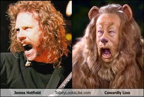 James Hetfield Totally Looks Like Cowardly Lion