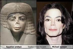 Egyptian artifact Totally Looks Like Michael Jackson