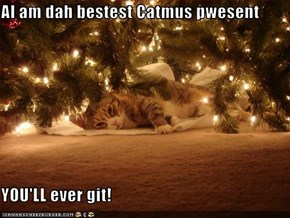 AI am dah bestest Catmus pwesent  YOU'LL ever git!
