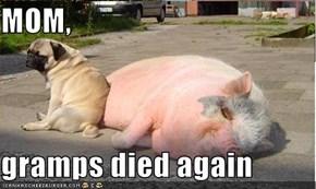 MOM,  gramps died again