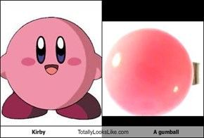 Kirby Totally Looks Like A gumball