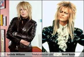 Lucinda Williams Totally Looks Like David Bowie