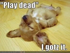 """""""Play dead""""  I gotz it."""