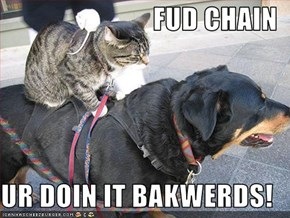 FUD CHAIN  UR DOIN IT BAKWERDS!