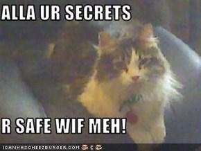 ALLA UR SECRETS  R SAFE WIF MEH!
