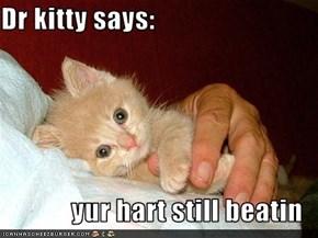 Dr kitty says:  yur hart still beatin