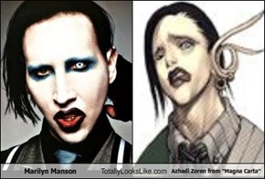 "Marilyn Manson Totally Looks Like Azhadi Zoren from ""Magna Carta"""