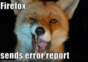 Firefox   sends error report