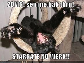 ZOMG! sen me bak thru!   STARGATE NO WERK!!