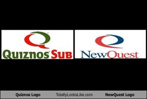 Quiznos Logo Totally Looks Like NewQuest Logo