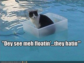 """""""Dey see meh floatin'...they hatin'"""""""