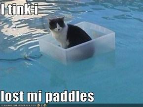 I tink i  lost mi paddles