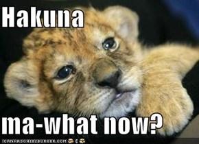 Hakuna   ma-what now?