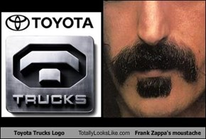 Toyota Trucks Logo Totally Looks Like Frank Zappa's moustache