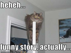 heheh...  funny story, actually...