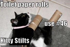 Toilet paper rolls  use #46 Kitty Stilts