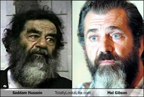 Saddam Hussein Totally Looks Like Mel Gibson