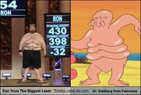 Ron from The Biggest Loser Totally Looks Like Dr. Zoidberg from Futurama