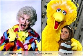 Phyllis Diller Totally Looks Like Big Bird