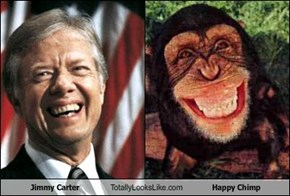 Jimmy Carter Totally Looks Like Happy Chimp