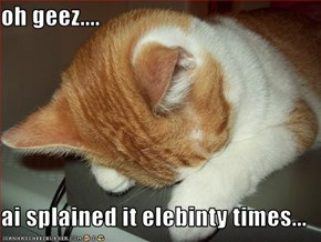 oh geez....  ai splained it elebinty times...