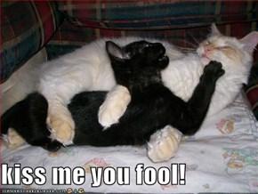 kiss me you fool!