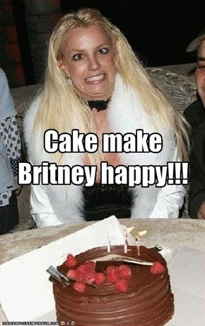 Cake make Britney happy!!!
