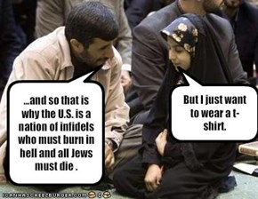 ...and so that is why the U.S. is a nation of infidels who must burn in hell and all Jews must die .