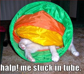 halp! me stuck in tube.