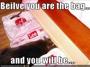 Beilve you are the bag...  and you will be....