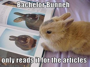 Bachelor Bunneh    only reads it for the articles