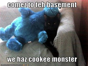 comez to teh basement  we haz cookee monster
