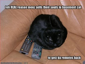 teh REAL reason menz sells their souls to basement cat