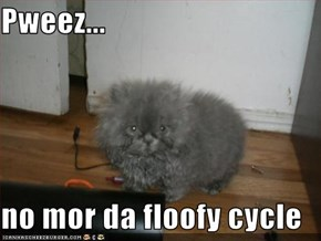 Pweez...  no mor da floofy cycle