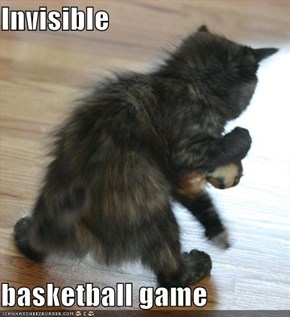 Invisible  basketball game