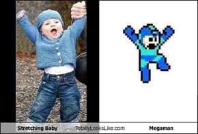 Stretching Baby Totally Looks Like Megaman