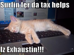 Surfin fer da tax helps  Iz Exhaustin!!!