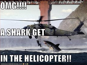 OMG!!!!  A SHARK GET  IN THE HELICOPTER!!