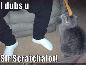I dubs u  Sir Scratchalot!