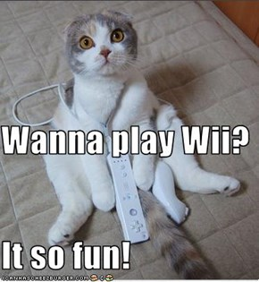 Wanna play Wii? It so fun!
