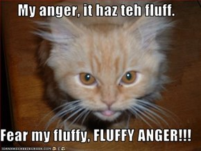 My anger, it haz teh fluff.  Fear my fluffy, FLUFFY ANGER!!!