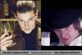 Hannibal (Gaspard Ulliel) Totally Looks Like Alex (Malcolm McDowell