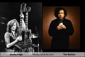 Jimmy Page Totally Looks Like Tim Burton