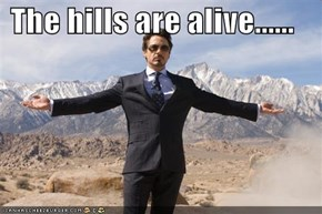 The hills are alive......