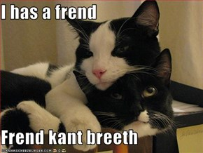 I has a frend  Frend kant breeth