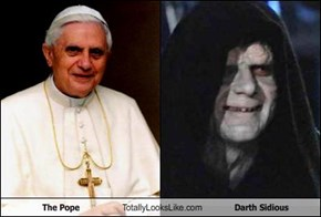 The Pope Totally Looks Like Darth Sidious