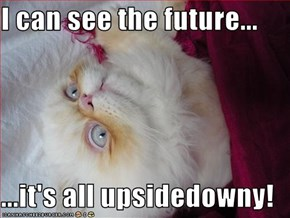 I can see the future...  ...it's all upsidedowny!