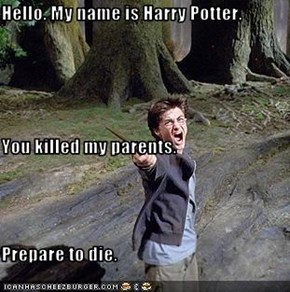 Hello. My name is Harry Potter. You killed my parents. Prepare to die.