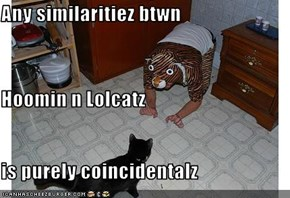 Any similaritiez btwn Hoomin n Lolcatz is purely coincidentalz