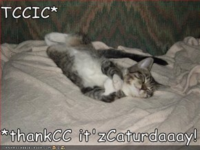 TCCIC*  *thankCC it'zCaturdaaay!